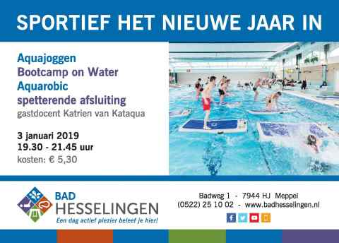 Poster kenninsmaking aquasport 3 januari 2019