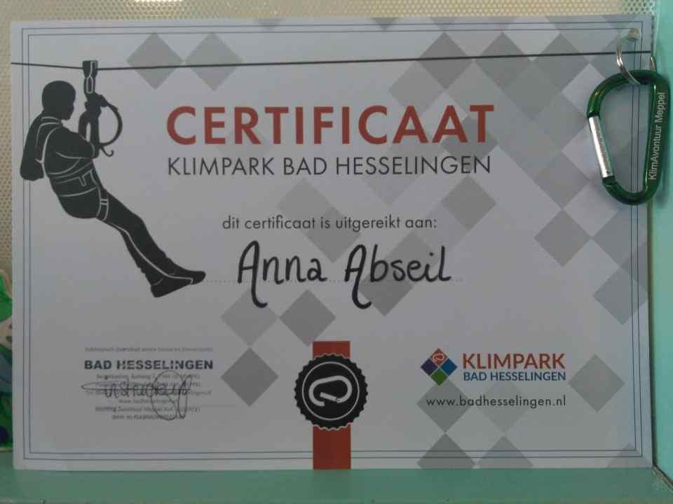 certificaat-oorkonde-klimpark-klimmen-diploma_Bad-Hesselingen-Meppel_
